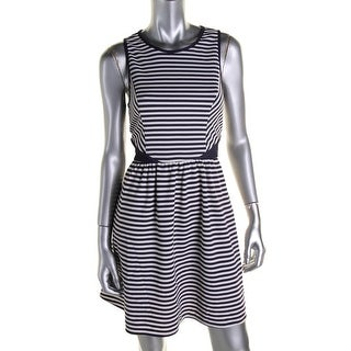 Jessica Simpson Womens Striped Sleeveless Casual Dress - 6