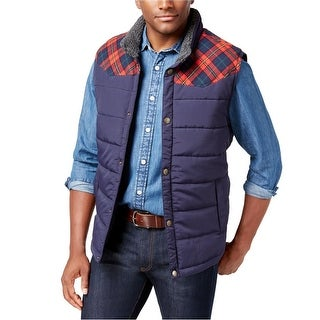 Weatherproof NEW Blue Mens Size XL Full-Zip Mock-Neck Vest Jacklet