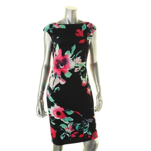 Lauren Ralph Lauren Womens Wear to Work Dress Floral Print Cap Sleeves
