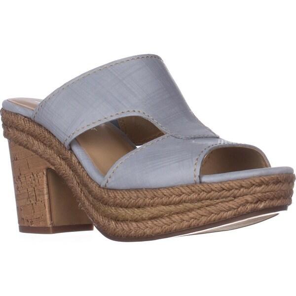 naturalizer Evette Platform Sandals, Blue Leather