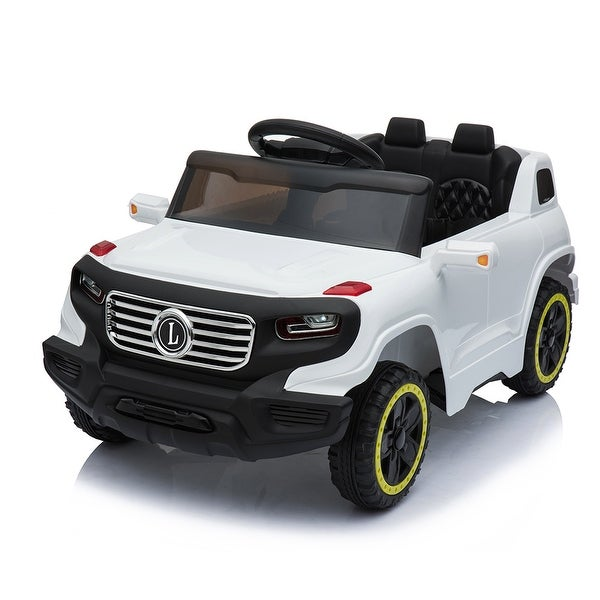 Electric Car with 6V Children Car Pre-Programmed Music and Ride on Car Remote control. Opens flyout.