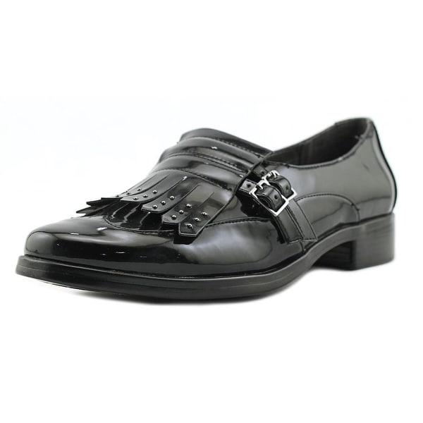 A2 By Aerosoles Ravishing Women Cap Toe Synthetic Black Loafer