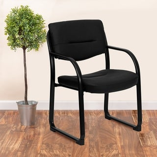 Link to LeatherSoft Executive Reception Chair with Sled Base and Foam Padded Seat Similar Items in Living Room Chairs