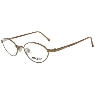 DKNY 6207 225 Satin Antique Copper Oval Eyewear - satin antique copper - 43-17-130