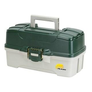 Plano MoldingA 620304 Three Tray Tackle Box, Green Metallic/Off White