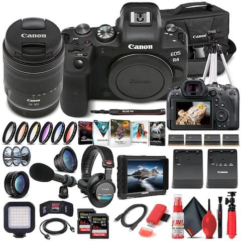 Canon EOS R6 Mirrorless Camera W/ 24-105mm f/4-7.1 Lens 4082C022 - Pro