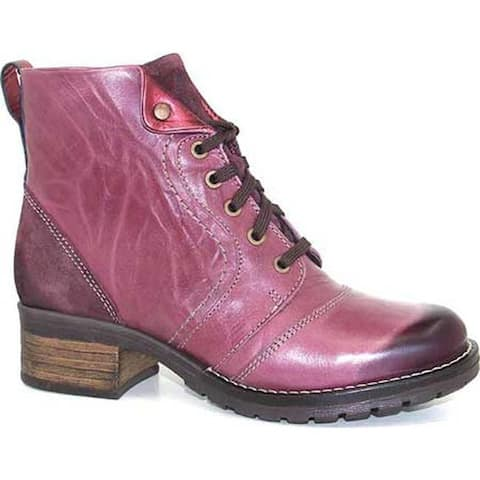 Dromedaris Women's Karissa Ankle Boot Violet Leather