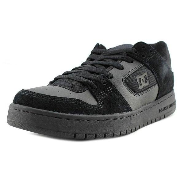 DC Shoes Manteca Men Round Toe Leather Black Skate Shoe