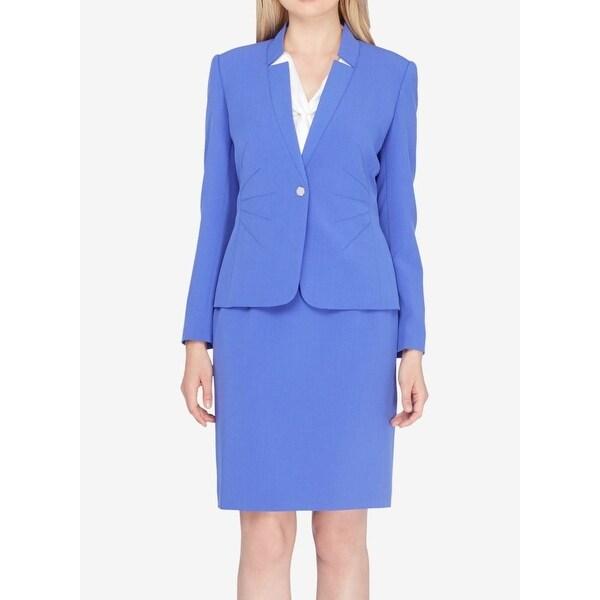 Shop Tahari By Asl New Deep Lavender Blue Women Size 6 One Button