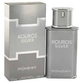 Kouros Silver by Yves Saint Laurent Eau De Toilette Spray 3.4 oz - Men