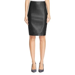 Bailey 44 Womens Simon Pencil Skirt Faux leather Mixed Media - L