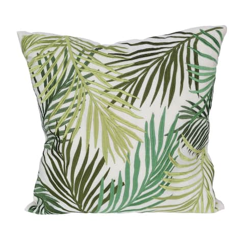 A&B Home Green 18-inch Palmetto Embroidered Throw Pillow