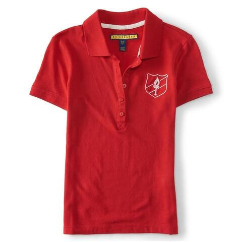 Aeropostale Womens Torch Crest Polo Shirt