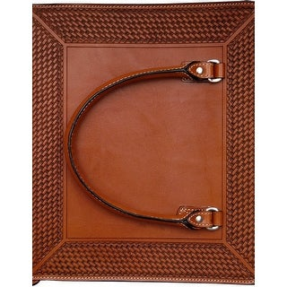 3D Western Notebook Binder 3 Rings Basketweave Natural NB103