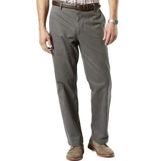 Dockers Field Khaki Classic Fit Mini Stripe Chinos Pants Dark Grey 34W x 32L