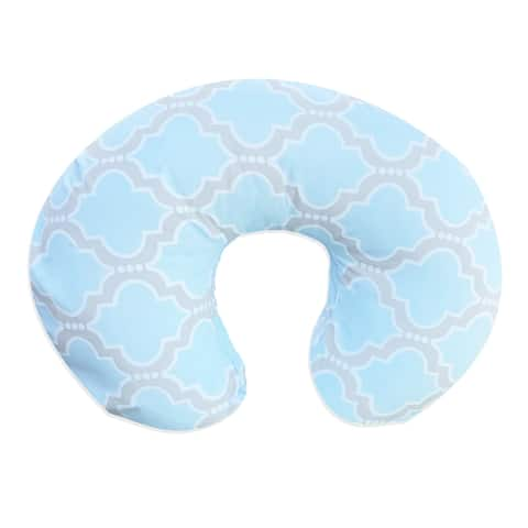 Pam Grace Creations Baby Blue Trellis Nursing Pillow Cover