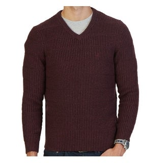 Nautica NEW Burgundy Red Mens Size XL Pull-Over V-Neck Knit Sweater