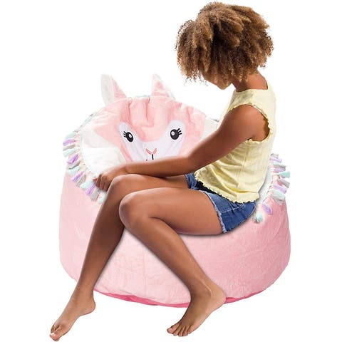 Bean Bag, Soft and Cozy Animal Bean Bag Chair - Child Proof Closure