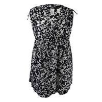 Lauren Ralph Lauren Women's Plus Regent Floral Farrah Coverup - BLACK/WHITE
