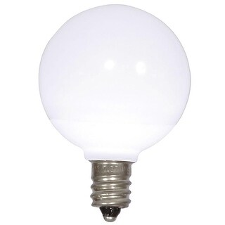 Pack of 25 Pure White Ceramic LED G40 Christmas Replacement Bulbs