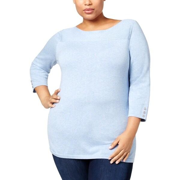 Karen Scott Womens Pullover Sweater Boatneck Long Sleeve