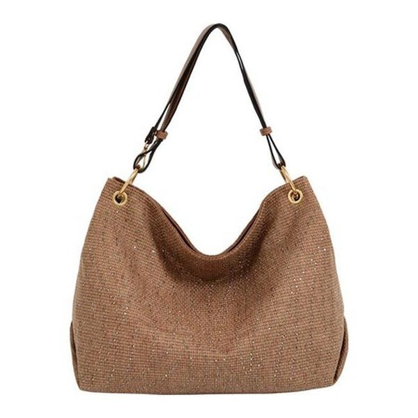 Shop Mellow World Women s Desiree Studded Hobo Handbag Cognac - us women s  one size (size none) - Free Shipping On Orders Over  45 - Overstock.com -  ... f736a66042