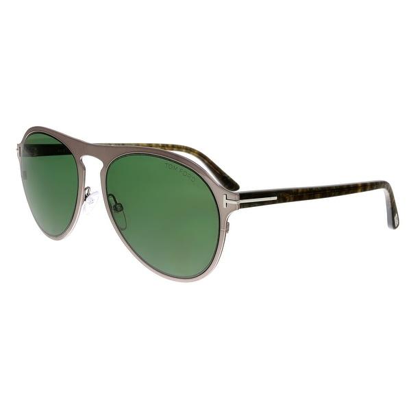 a13623500ea2 Shop Tom Ford FT0525 14N Bradburry Silver Aviator Sunglasses - No ...