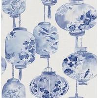 Brewster 2669-21713 Kana Sapphire Lantern Festival Wallpaper