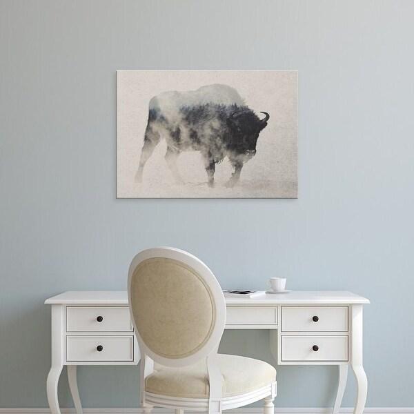 Easy Art Prints Andreas Lie's 'Bison in Fog' Premium Canvas Art