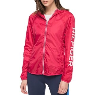 Tommy Hilfiger Womens Athletic Jacket Packable Active