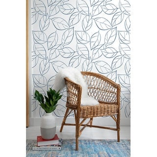 NextWall Tossed Leaves Peel and Stick Removable Wallpaper
