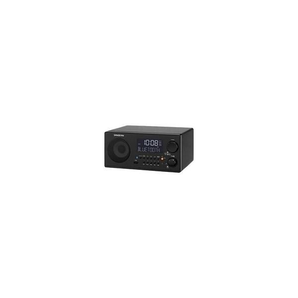 Sangean WR-22BK Sangean WR-22 Desktop Clock Radio - 7 W RMS - Mono - 2 x Alarm - FM, AM, AM - USB - Manual Snooze