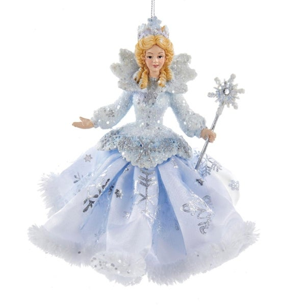 "6"" Ice Blue, White and Silver Ice Palace Snow Queen Decorative Christmas Ornament"