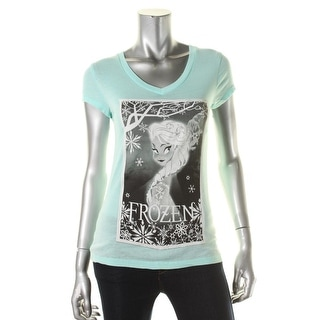 Freeze Womens Frozen Graphic V-Neck Graphic Tee