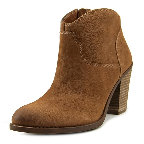Lucky Brand Eller Round Toe Leather Bootie
