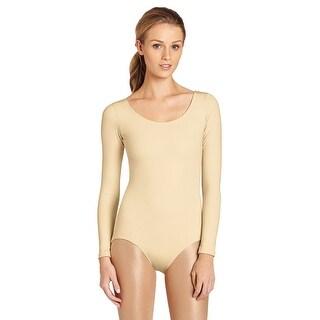 Capezio Women's Long Sleeve Leotard,Nude,Small - Small