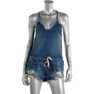 Joe's Jeans Womens Destroyed French Terry Overalls - S