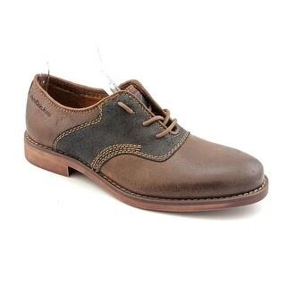 Calvin Klein Jeans Oris Men Round Toe Leather Brown Oxford