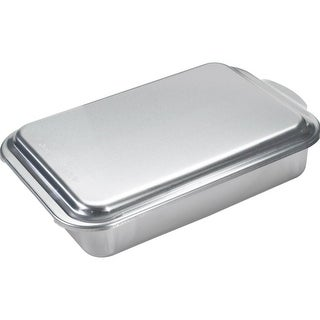 """Mirro 84975 Aluminum Cake Pan with High Dome Cover, 13"""" x 9"""" x 3-1/2"""""""