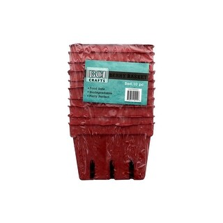 BCI Crafts Berry Basket 10pc Red