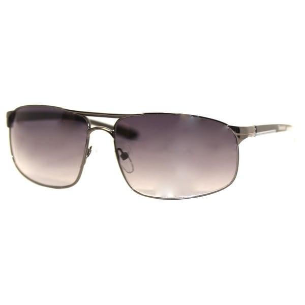 Timberland Sunglass Black Metal Aviator, Smoke Gradient TB7115 8B - Medium
