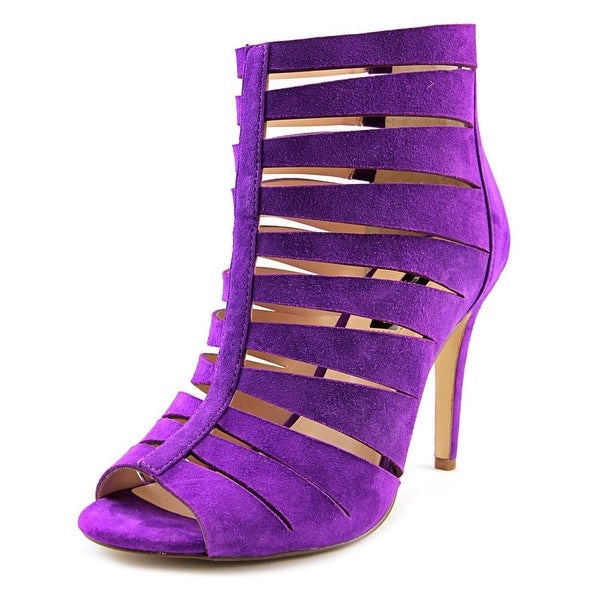 INC International Concepts Romeyo Women  Open Toe Suede Purple Sandals