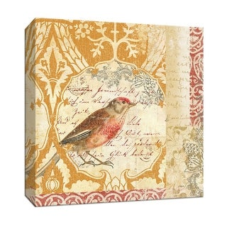 "PTM Images 9-152953  PTM Canvas Collection 12"" x 12"" - ""Bird Collage Study I"" Giclee Birds Art Print on Canvas"