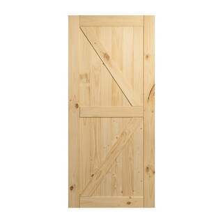 Sliding Barn Door Unfinished Knotty Pine Single Door Only No Rail Kit Included
