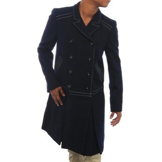 Love Moschino  Tweed Double-Breasted Botton Peacoat Peacoat NVY