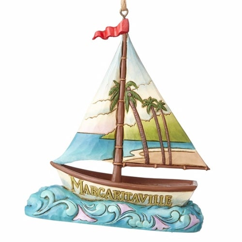 Margaritaville Sailboat Ornament