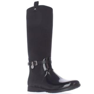 MICHAEL Michael Kors Charm Stretch Rainboots, Black