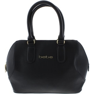 Bebe Womens Roxanne Faux Leather Lined Satchel Handbag - Medium