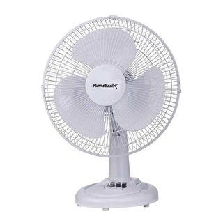 "Homebasix F-1230 3-Speed Oscillating Table Fan, 12"""