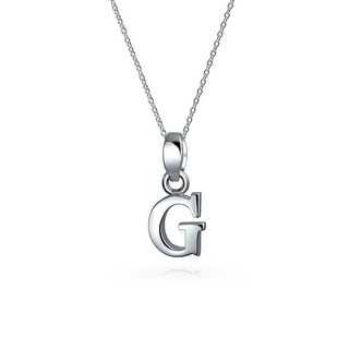 Shop bling jewelry block letter g 925 sterling silver initial bling jewelry block letter g 925 sterling silver initial pendant necklace 18 inches aloadofball Images